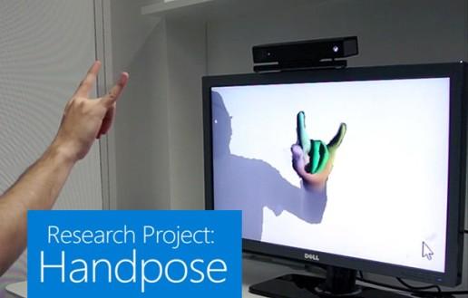 microsoft with handpose